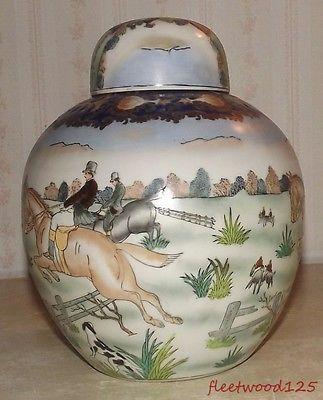 Decorative Urns Vases Gorgeous Decorative Porcelain Ginger Jar Urn Vase Horse Rider Dog Fox 2018