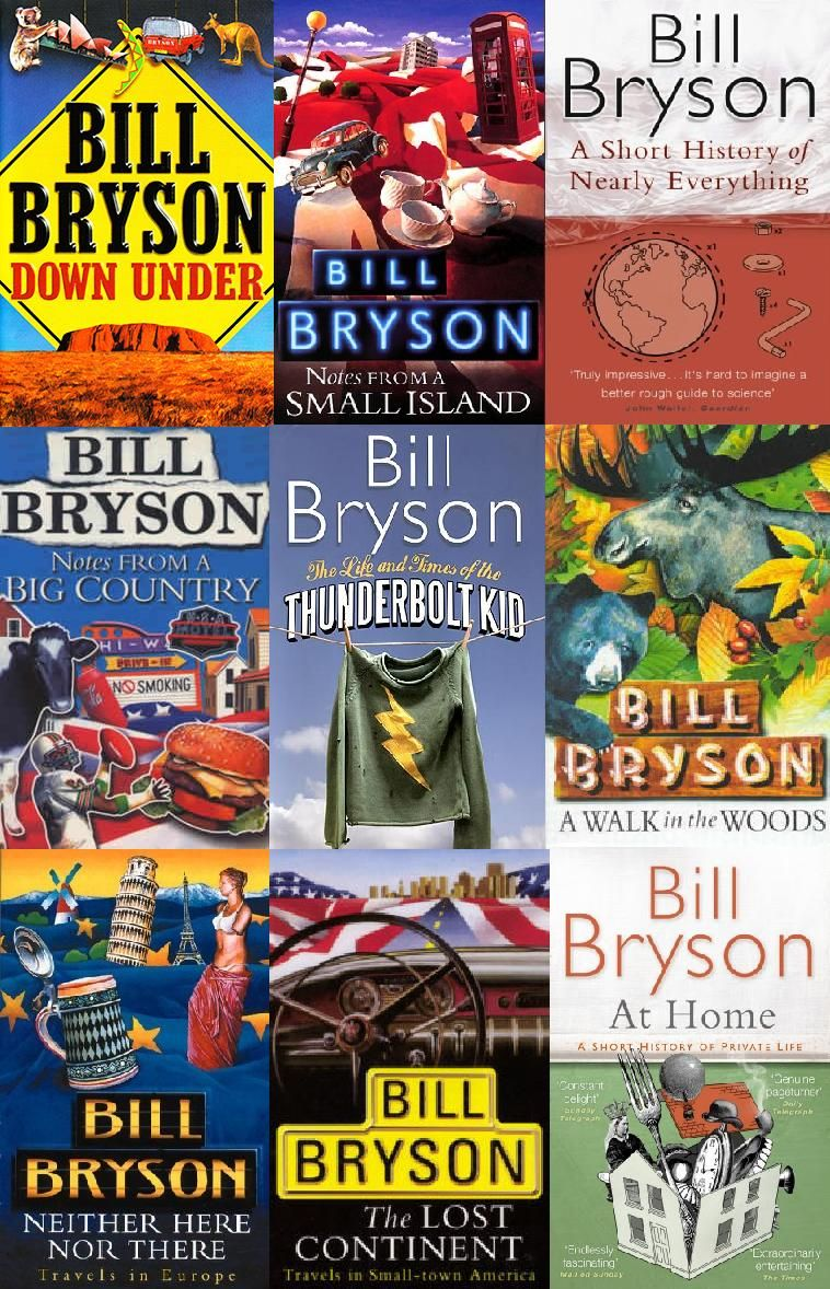 001 Everything he's ever done Bill Bryson Books, Bill