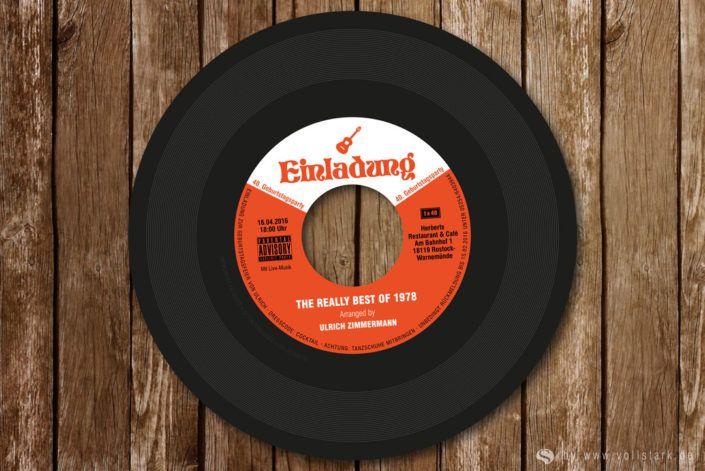 Schallplatte Als Einladung (echte Vinyl Single)
