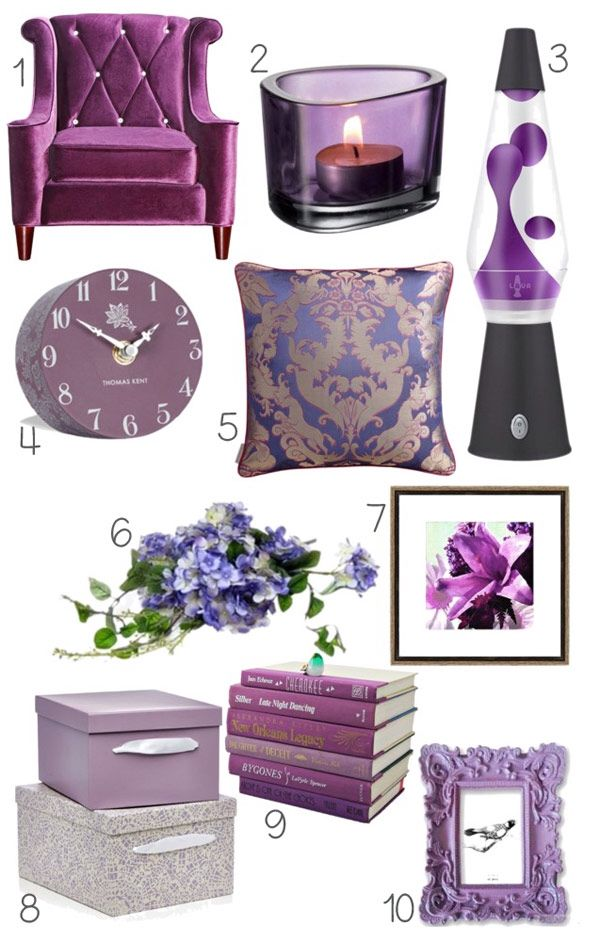 Plum accessories living room idea purple accessories - Purple and grey living room accessories ...
