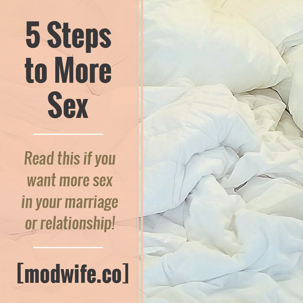 Have more sex in marriage
