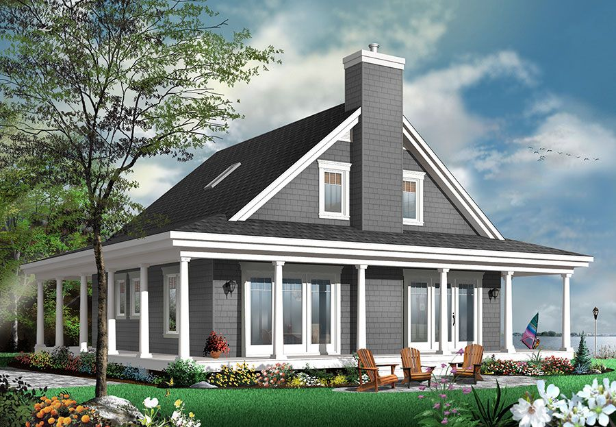 Plan 22428DR: 4 Bedroom Country House Plan with Wrap-Around Porch ...