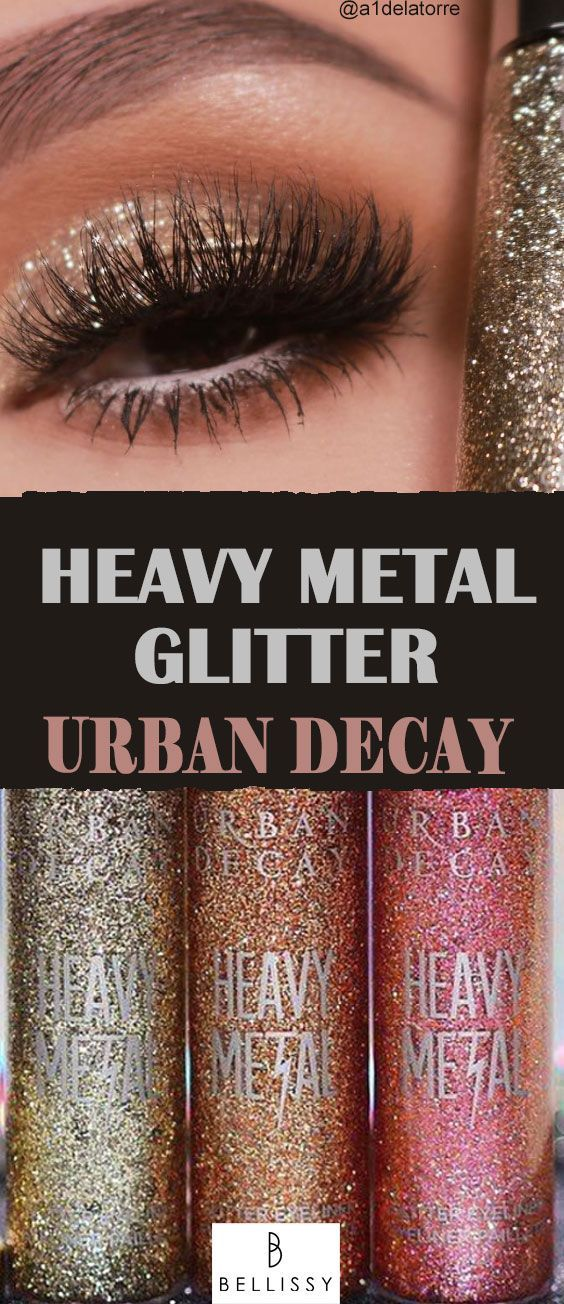 Urban Decay Heavy Metal Glitter Eyeliner 7.5ml Midnight Cowboy - #75ml #AugenMakeUpbunt #AugenMakeUpdezent #Cowboy #Decay #Eyeliner #Glitter #Heavy #Metal #Midnight #Urban -  Der Urban Decay Heavy Metal Glitter Eyeliner sorgt für einen spektakulären Wow-Blick. Perfekt für ein glamouröses Party Make-Up. #bellissy #bellissybeauty #glitter #Eyeliner #glittereyeliner