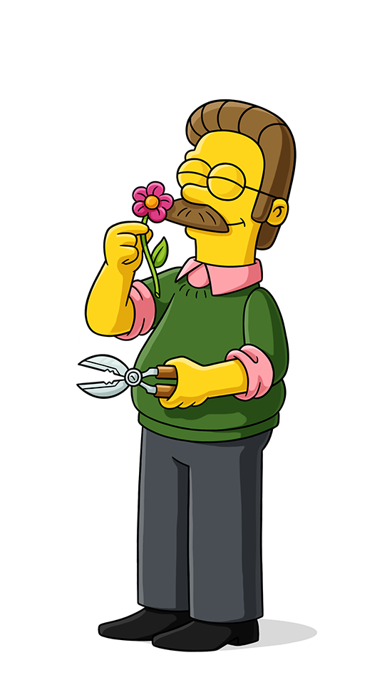 Nedward Ned Flanders Personajes De Los Simpsons Dibujos De Los Simpson Los Simpsons