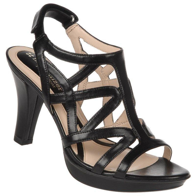 2d8ec43a0b67 Naturalizer Women s Danya Narrow Medium Wide Dress Sandals (Black) - 10.0 N