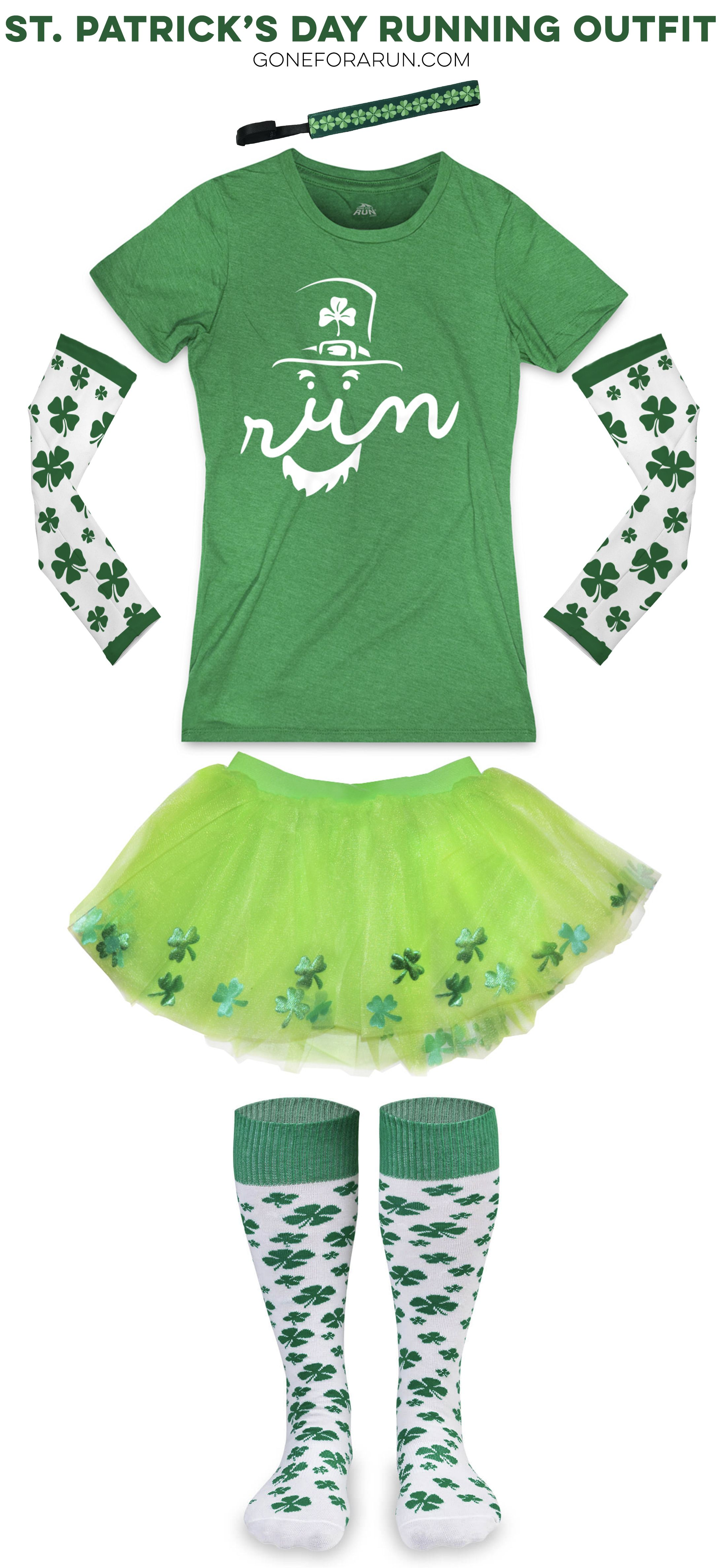 c0e338668 Get in the green mood! This running outfit idea is perfect for St ...