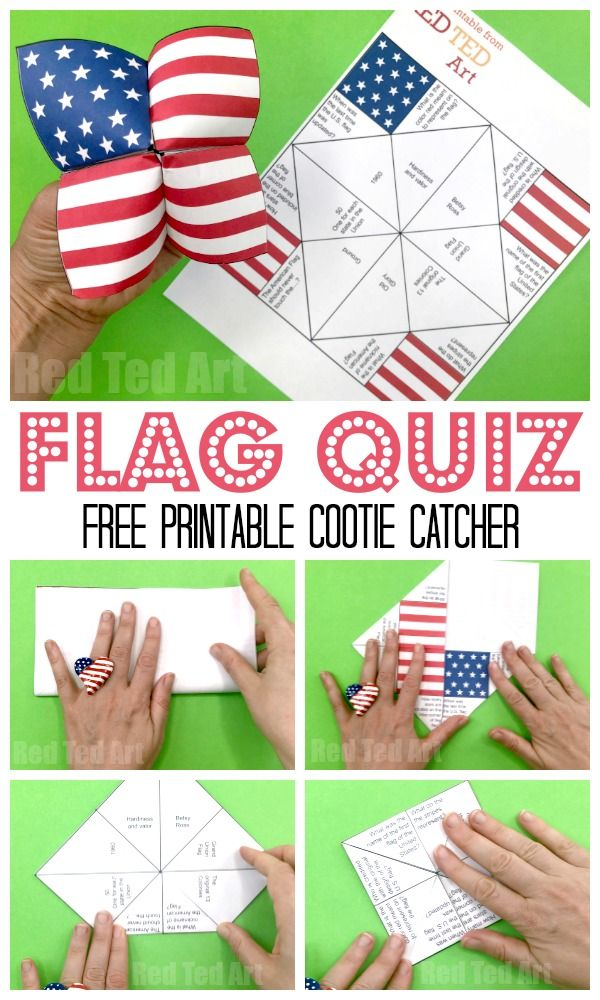 American Flag Cootie Catcher Printable #americanflagart