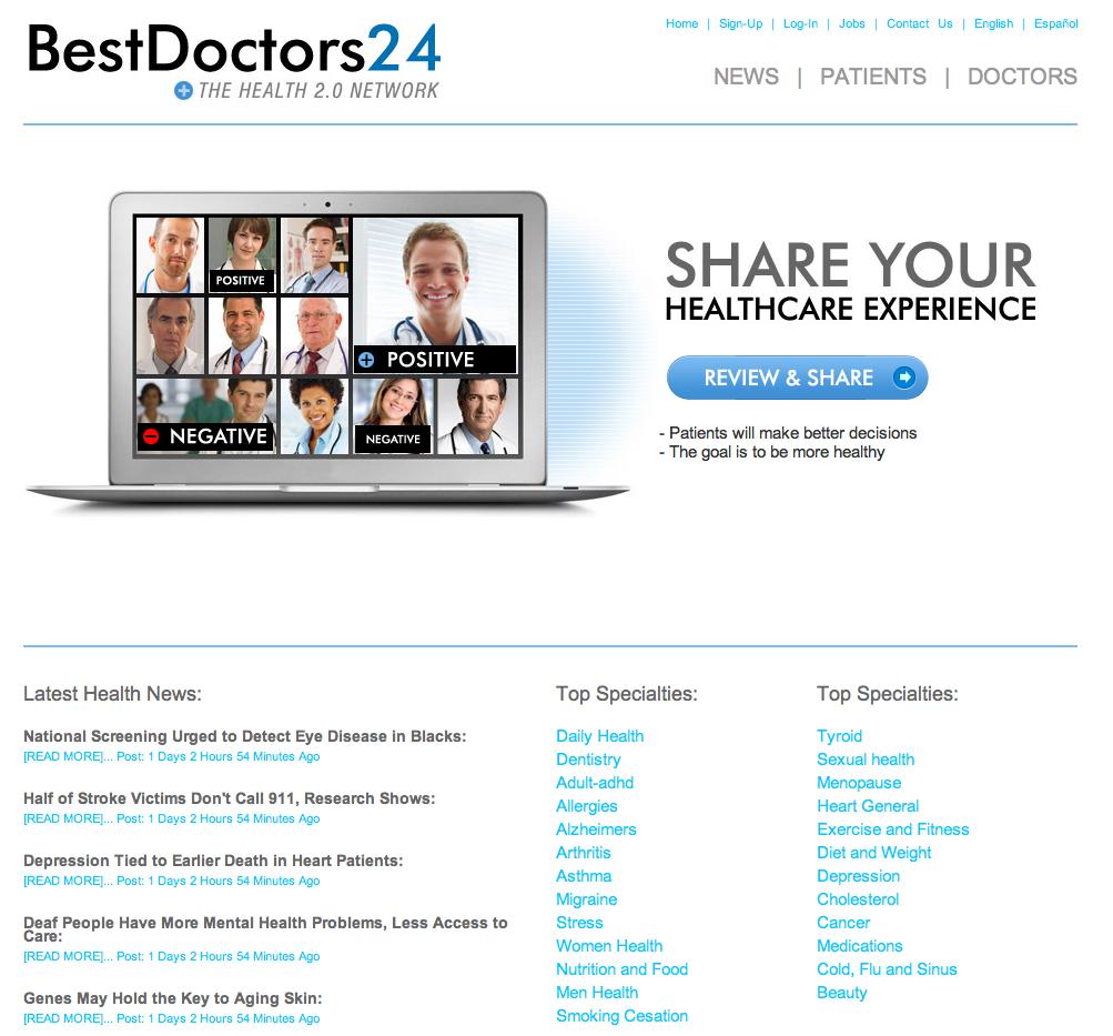 best healthcare website design
