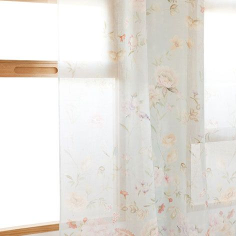 5cf62e06 FLORAL PRINT LINEN CURTAIN - Drapes - Bedroom | Zara Home United States