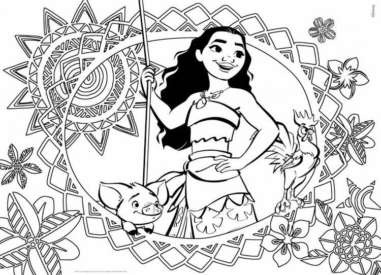 Moana Cover Coloring Book Moana coloring, Moana coloring