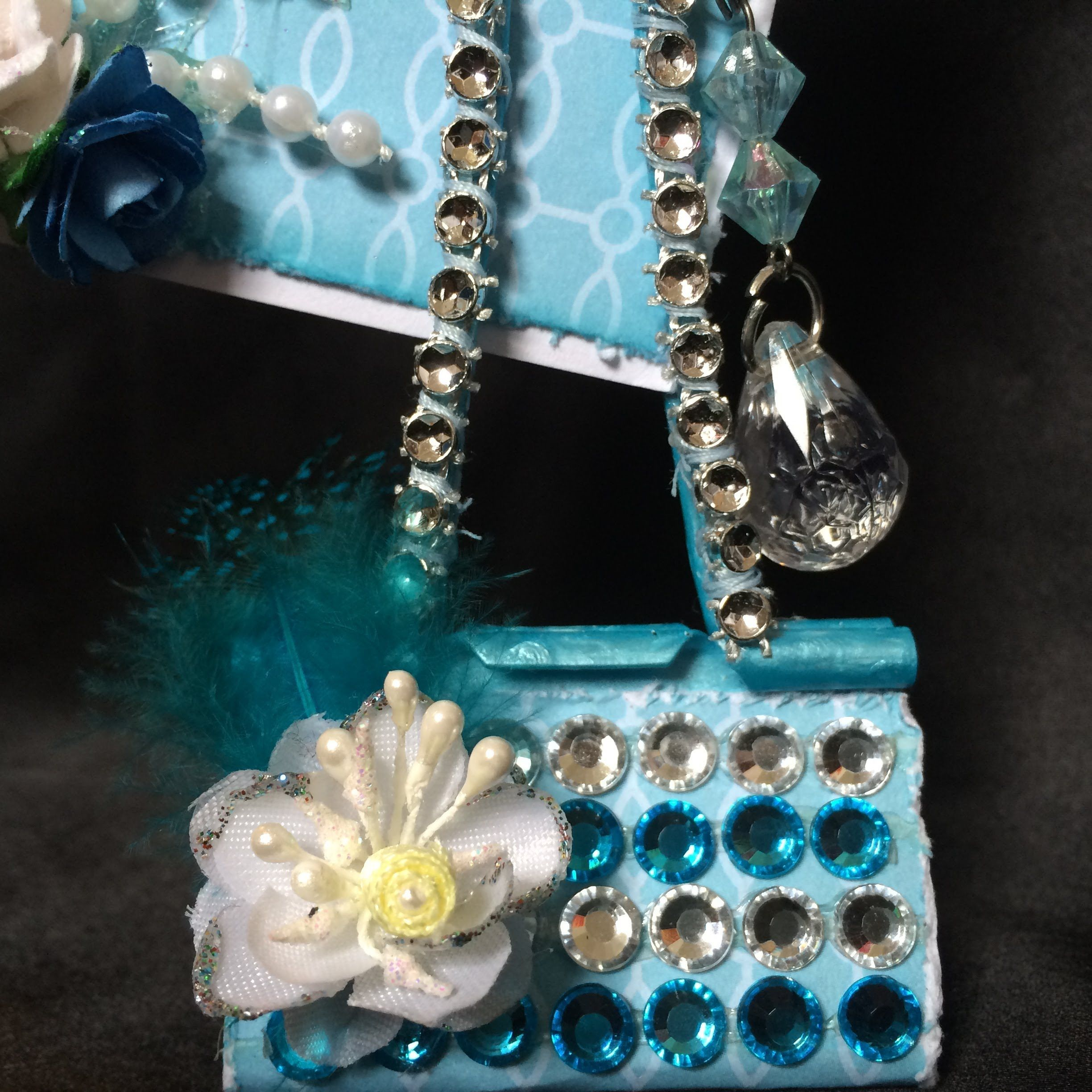 Plz. Subscribe for more Tutorials Like these... This is Tiffany & Company Themed Altered Binder Clip..To make Photo holder... Hope you all find this tutorial...