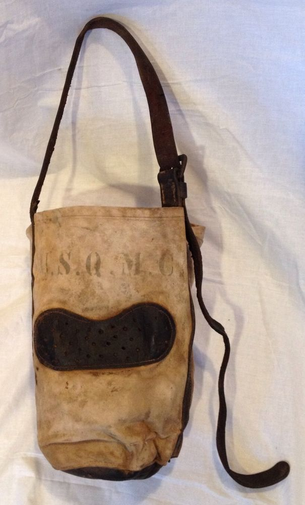 Antique Early U S Q M C Military Army Nose Feed Horse Bag