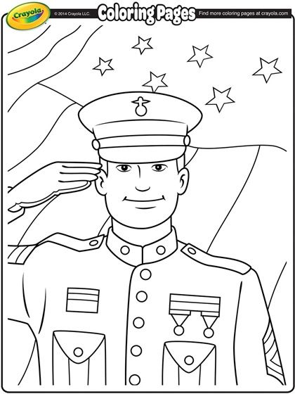 Veterans Day Soldier On Crayola Com Veterans Day Coloring Page Veterans Day Activities Coloring Pages