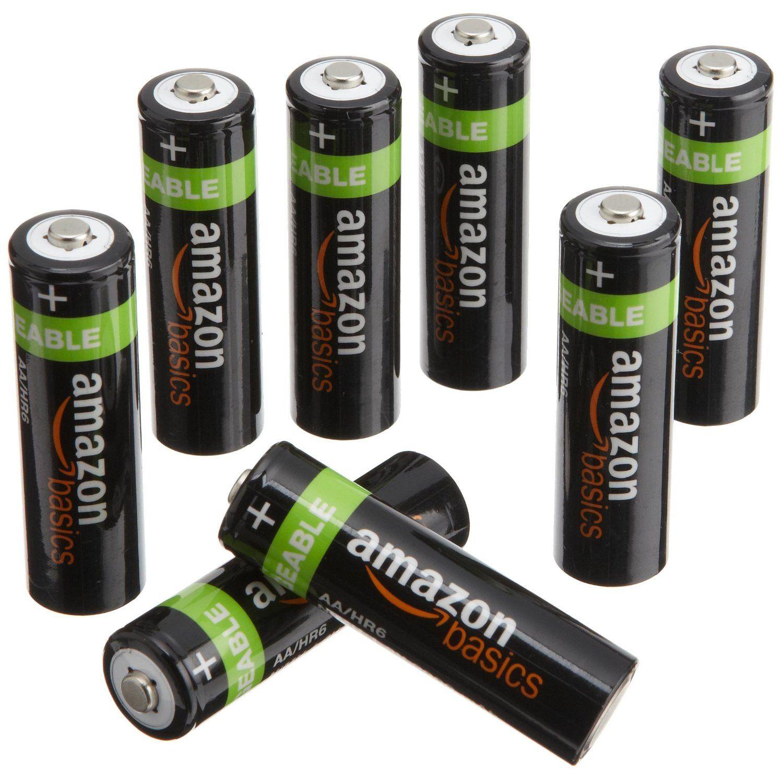 Amazonbasics Aa Nimh Precharged Rechargeable Batteries 8 Pack 2000 Mah Rechargeable Batteries Household Batteries Nimh