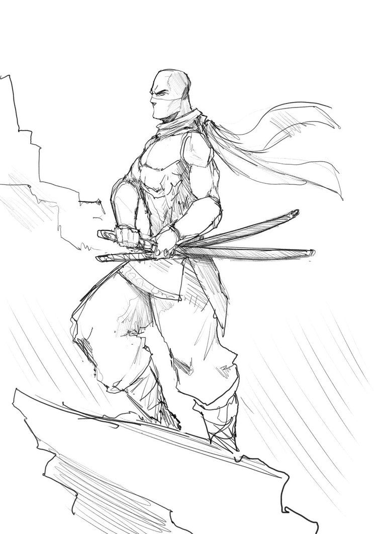 Lápiz Como Dibujar Un Ninja Wwwimagenesmycom