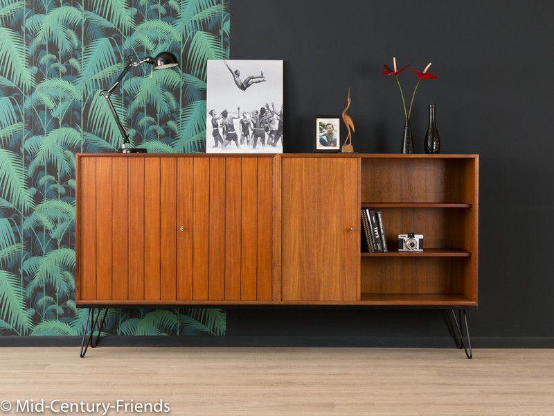 TEAK+Sideboard,+60er,+Kommode,+50er,+Vintage,+WK+von+MID+CENTURY+