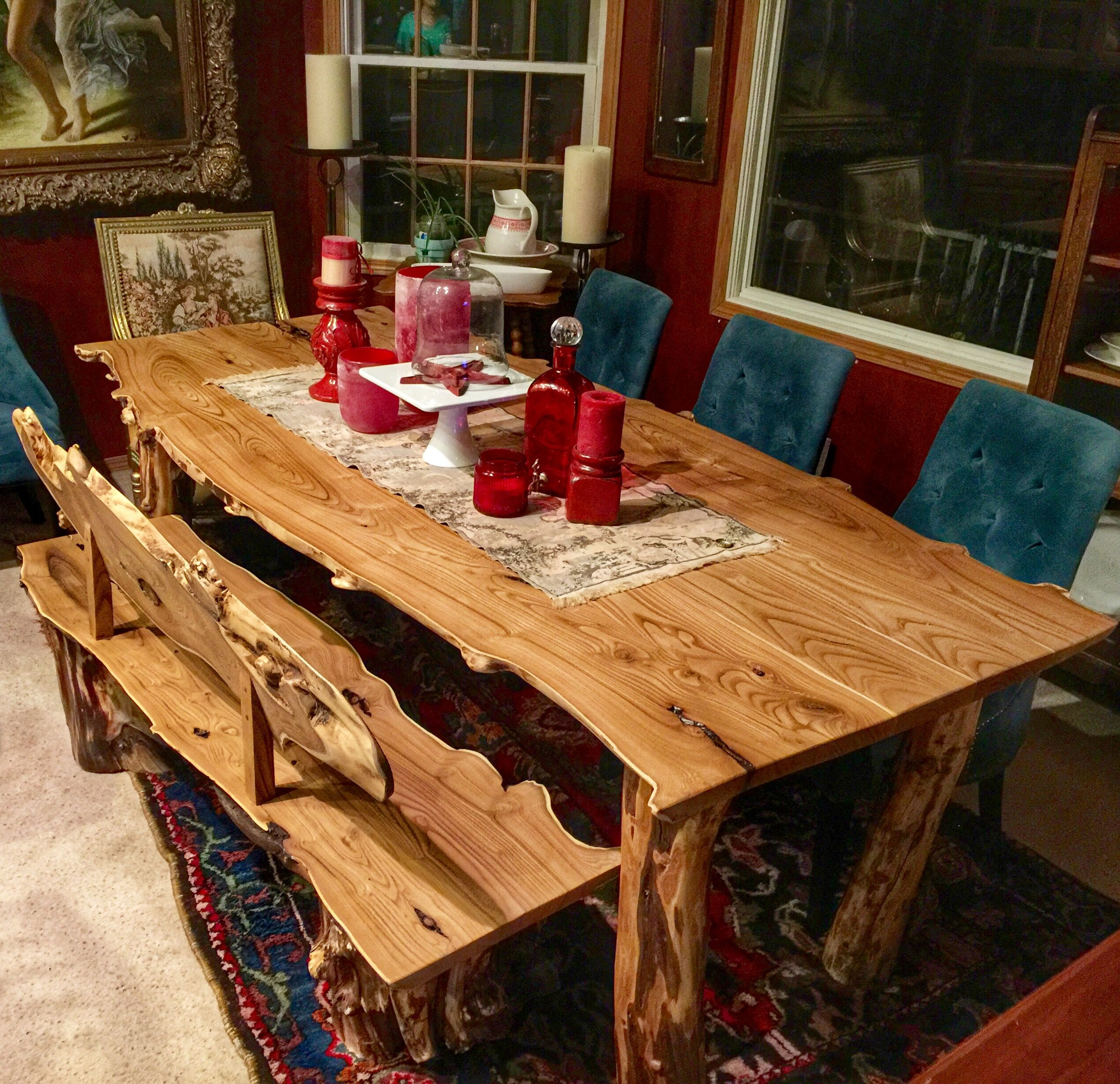 Gorgeous rustic dining room table handmade by River Bottom ...