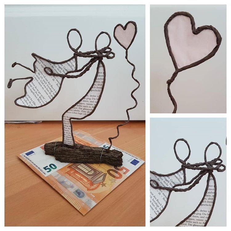 Papierdrahtfiguren Zur Hochzeit Papierdraht Kreativ Creative Handreamade Hochze Basteln Mit Papierdraht Basteln Mit Papierdraht Anleitung Papierskulpturen