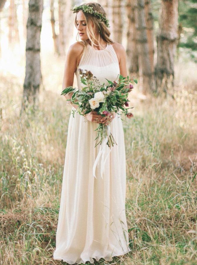 Ivory Wedding Dress Simple Wedding Dress Summer Long Wedding