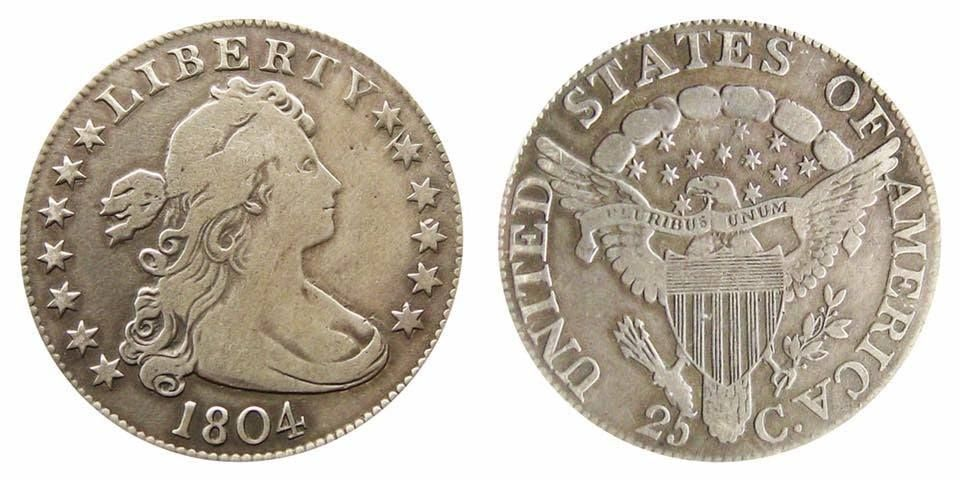 The Quarter Dollar Made In 1804 Was The First Silver Coin In The United States Mint S History To Have A Value On It Yes Up Silver Coins Valuable Coins Coins