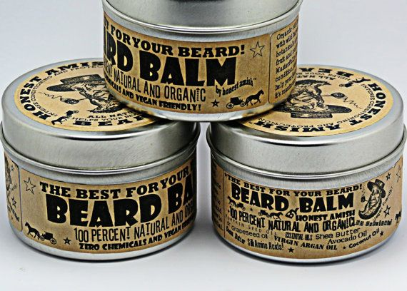 Honest Amish Beard Balm - 4 OUNCE TIN - Big - Natural and