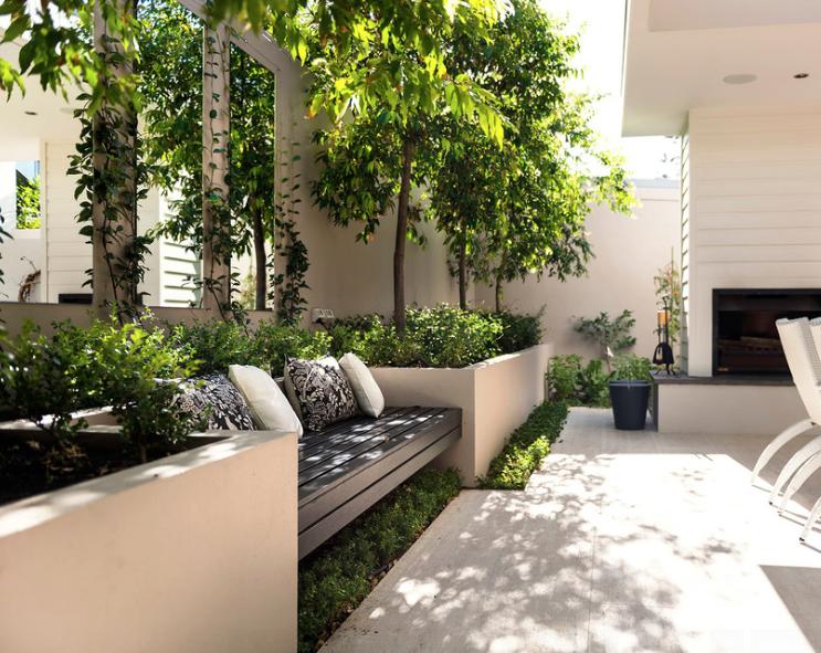 Recessed seating casas y elementos pinterest for Disenos de terrazas para casas