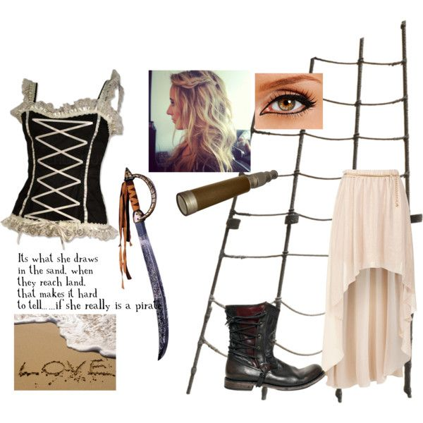"""Lovestruck Pirate Maiden"" by taco-tori on Polyvore"