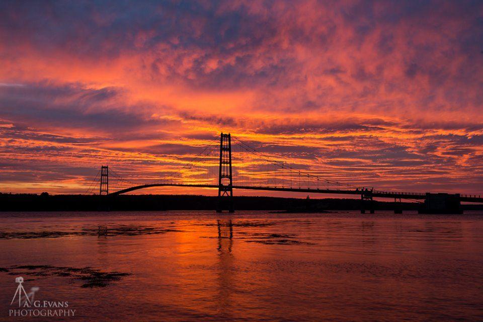 Yesterday's Sunrise over the Deer Isle - Sedgwick Bridge  #Maine is