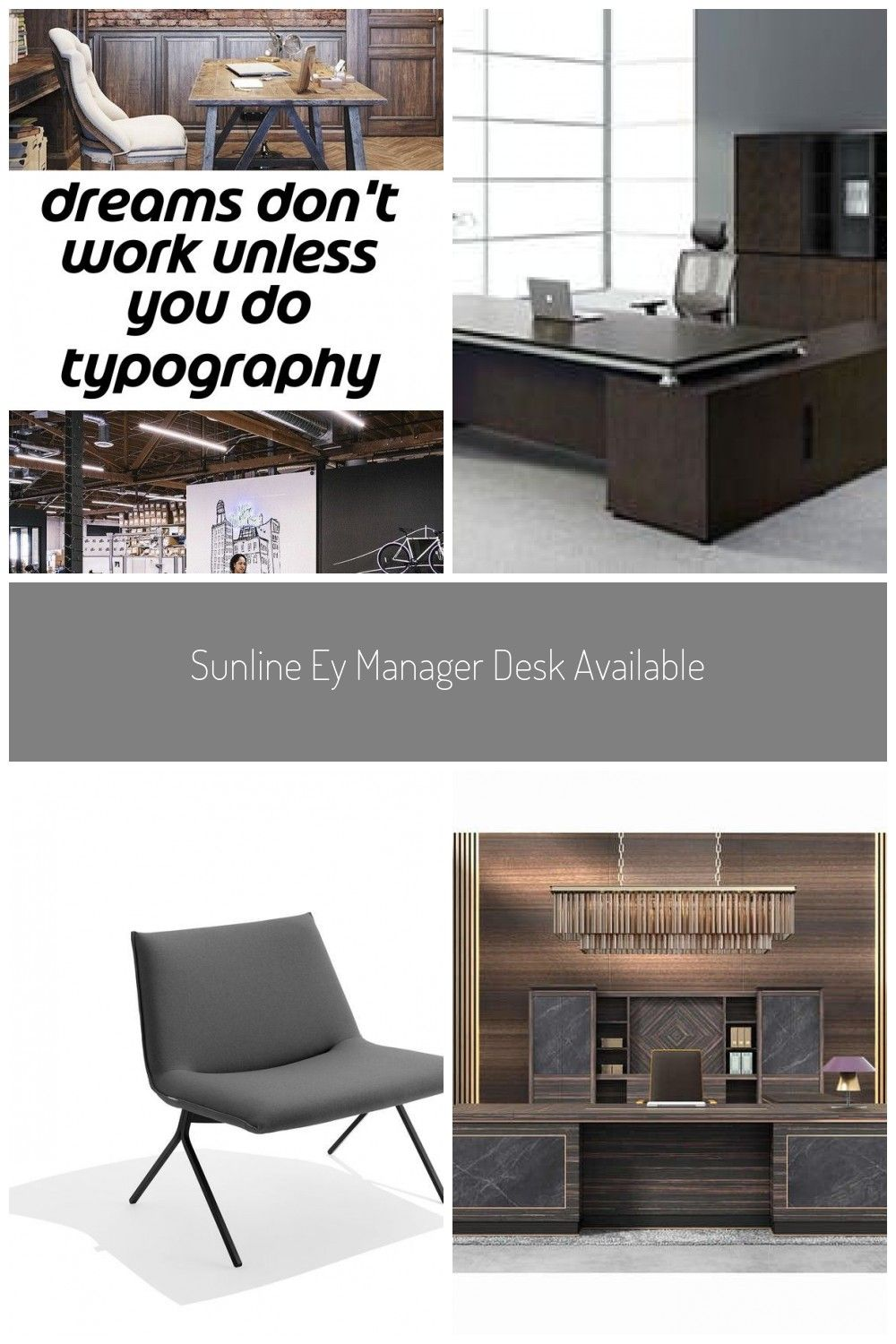 Dreams Don T Work Unless You Do Typography Poster Source Modern Style Melamine Executive Desk For Ce