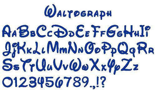 Waltograph Embroidery Font | Journals | Embroidery alphabet