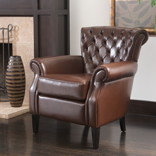 Etonnant Christopher Knight Home Franklin Brown Tufted Bonded Leather Club Chair  $246.99