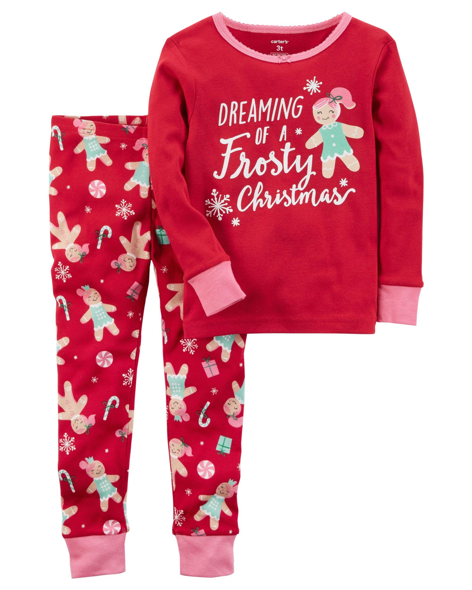 57ddcf483 2-Piece Christmas Snug Fit Cotton PJs