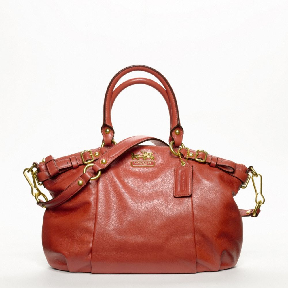 Madison leather Sophia satchel. Coach purse. Love.