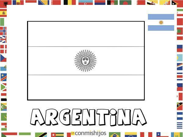 Bandera de Argentina. Dibujos de banderas para pintar | Mosaiquismo ...