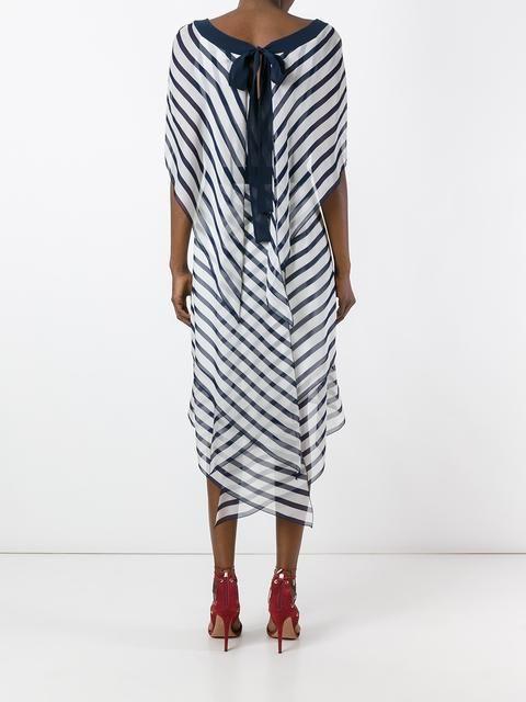 24451104225 Alberta Ferretti прозрачное платье в полоску