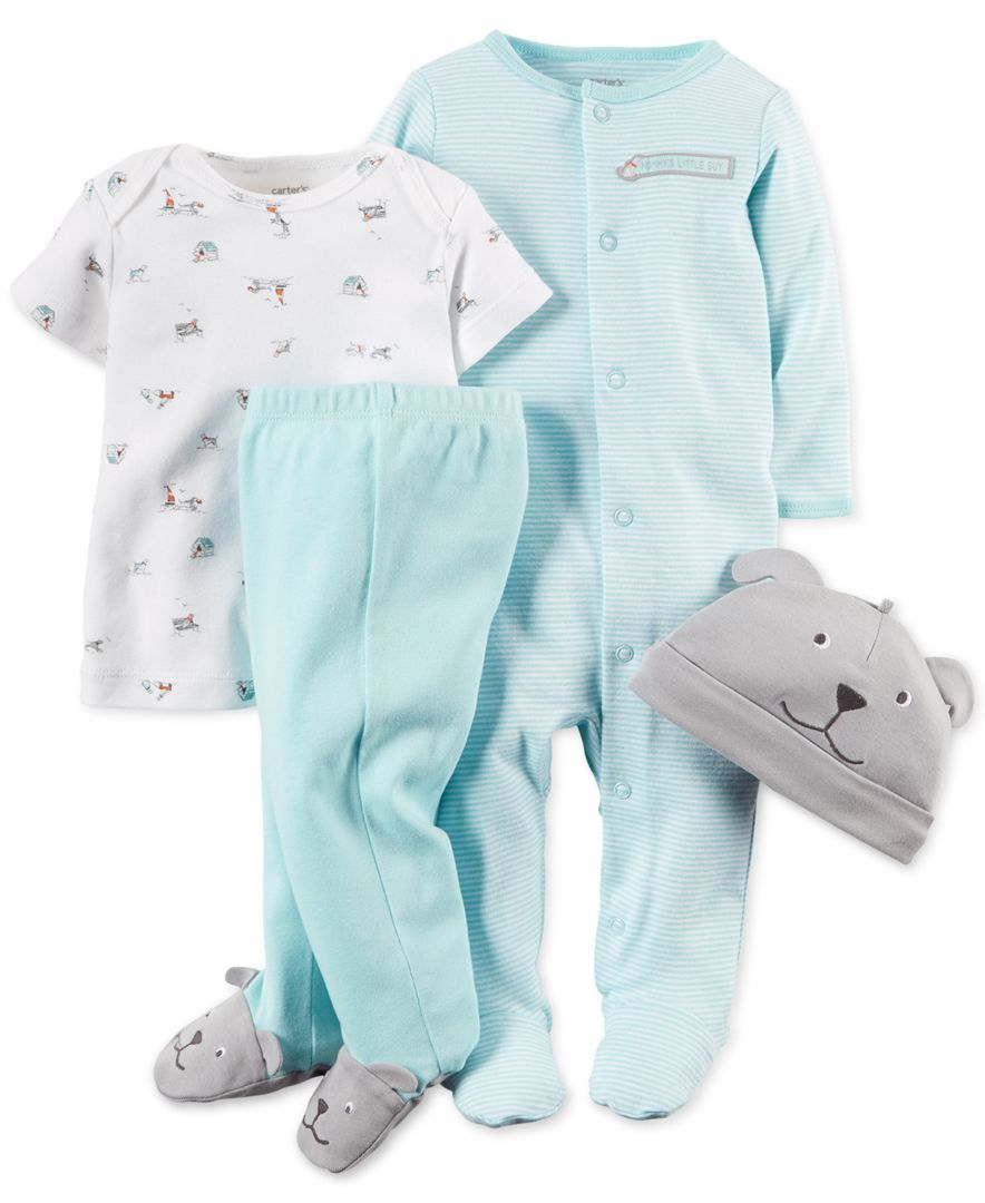 Carter's Baby Boys' 4-Piece Doggy Layette Set