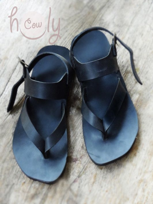 5328ad839 Beautiful 100% Handmade Black Leather Sandals by HolyCowproducts ...