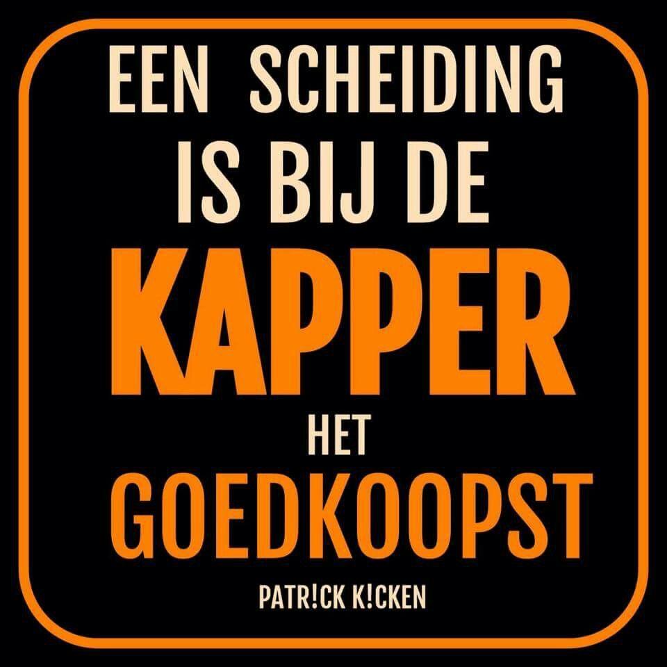 Een Scheiding Bij De Kapper Is Het Goedkoopst. | Kunst | Pinterest