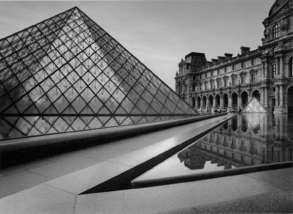 Bruce Barnbaum  The Louvre, Dusk  22 x 28 Silver Gelatin Photograph