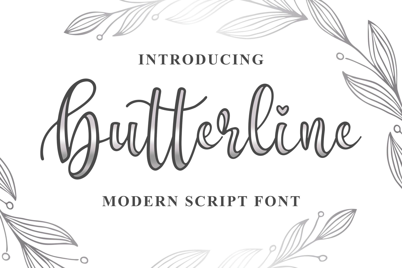 Butterline in 2020 Modern script font, Script fonts