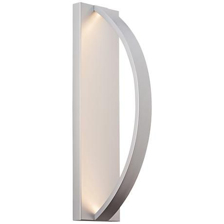 Smooth And Matte Lbl Lightings Hunter Outdoor Large Led Wall Light In Silver Can Be