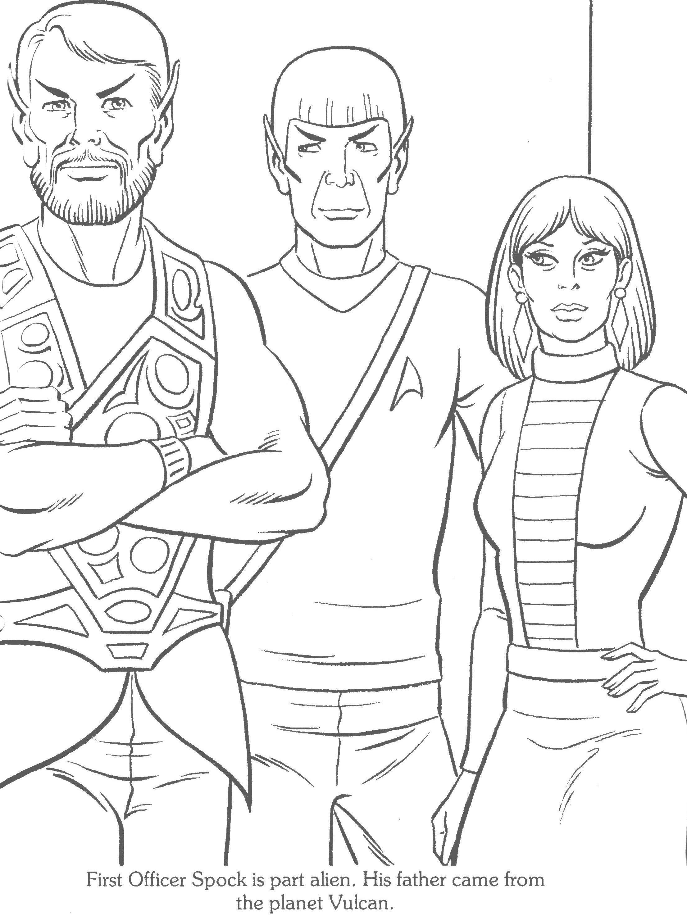 Staying Inside The Star Trek Coloring Book Lines Coloring Books