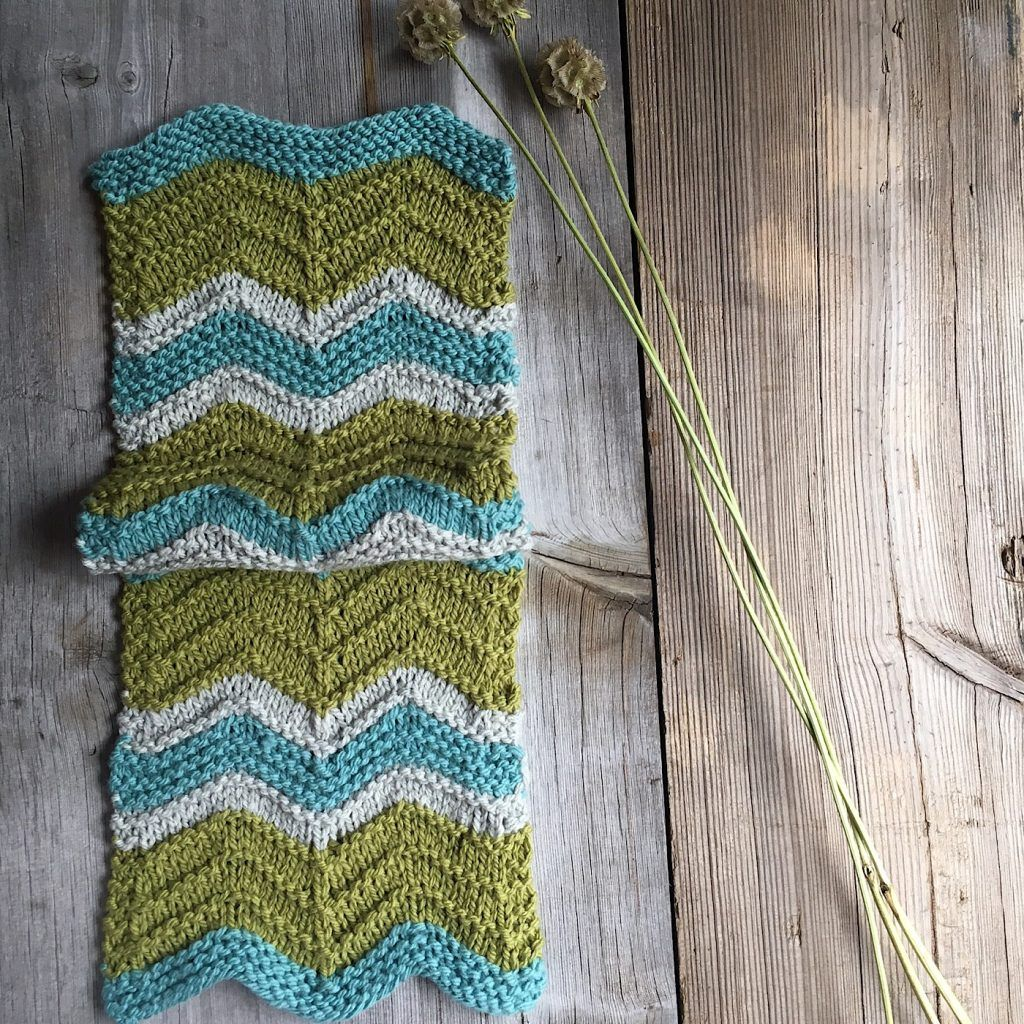 Free pattern, Grant, a chevron scarf made in Quince & Co Osprey from ...