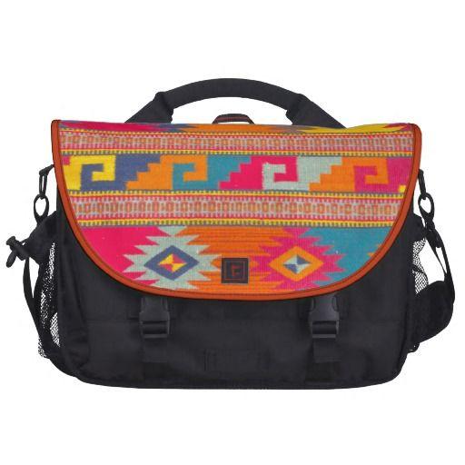 Western Navajo Aztec Geometric Ethnic Tribal Commuter Bags