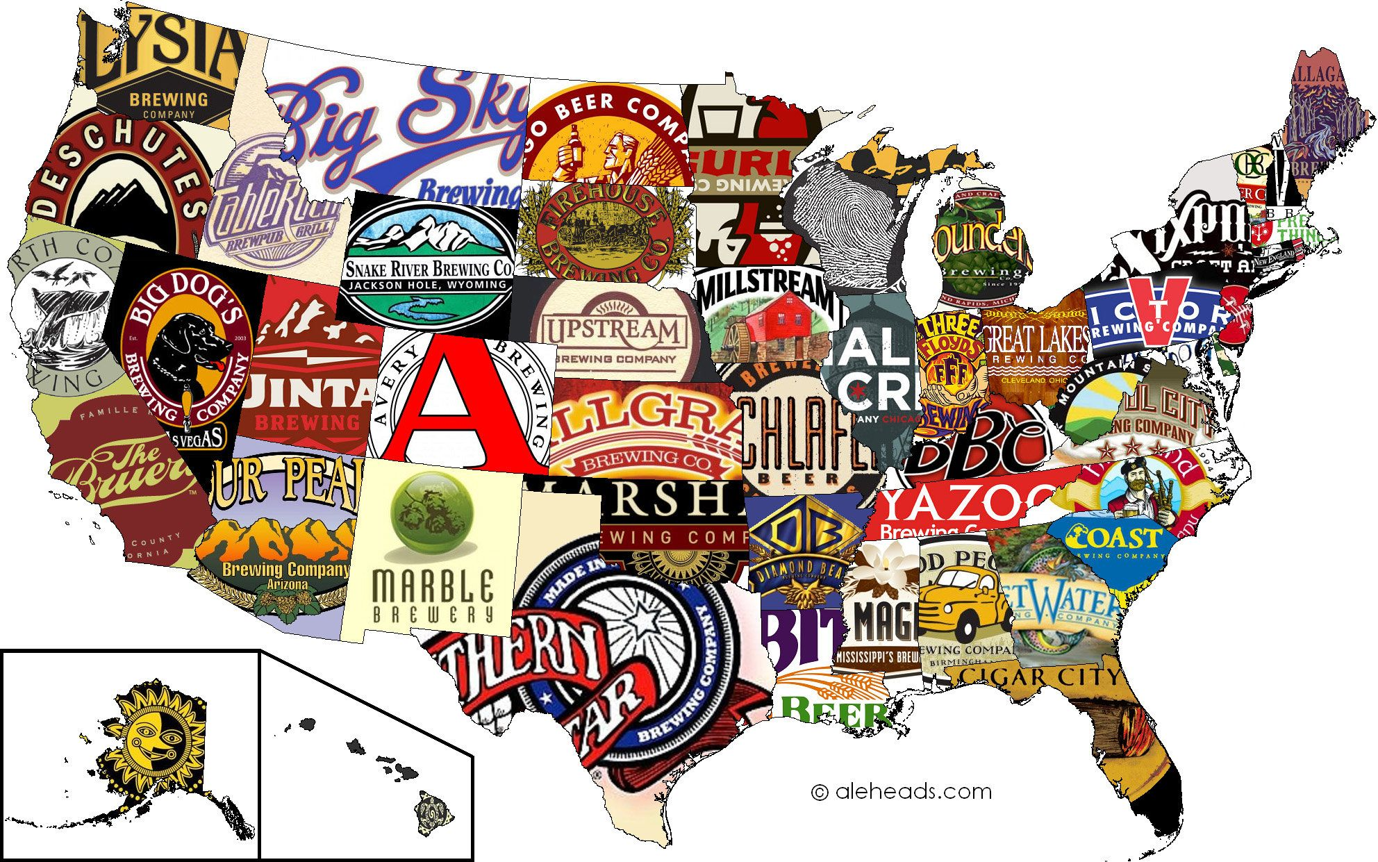 Craft Beer Map Very Very Cool What Brewery Do You Think Should - Us-brewery-map
