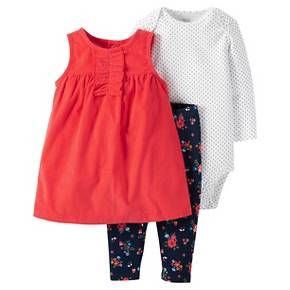 60a2f3f9423 Just One You™Made by Carter s® Baby Girls  3 Piece Jumper and Legging Set -  Red Floral   Target