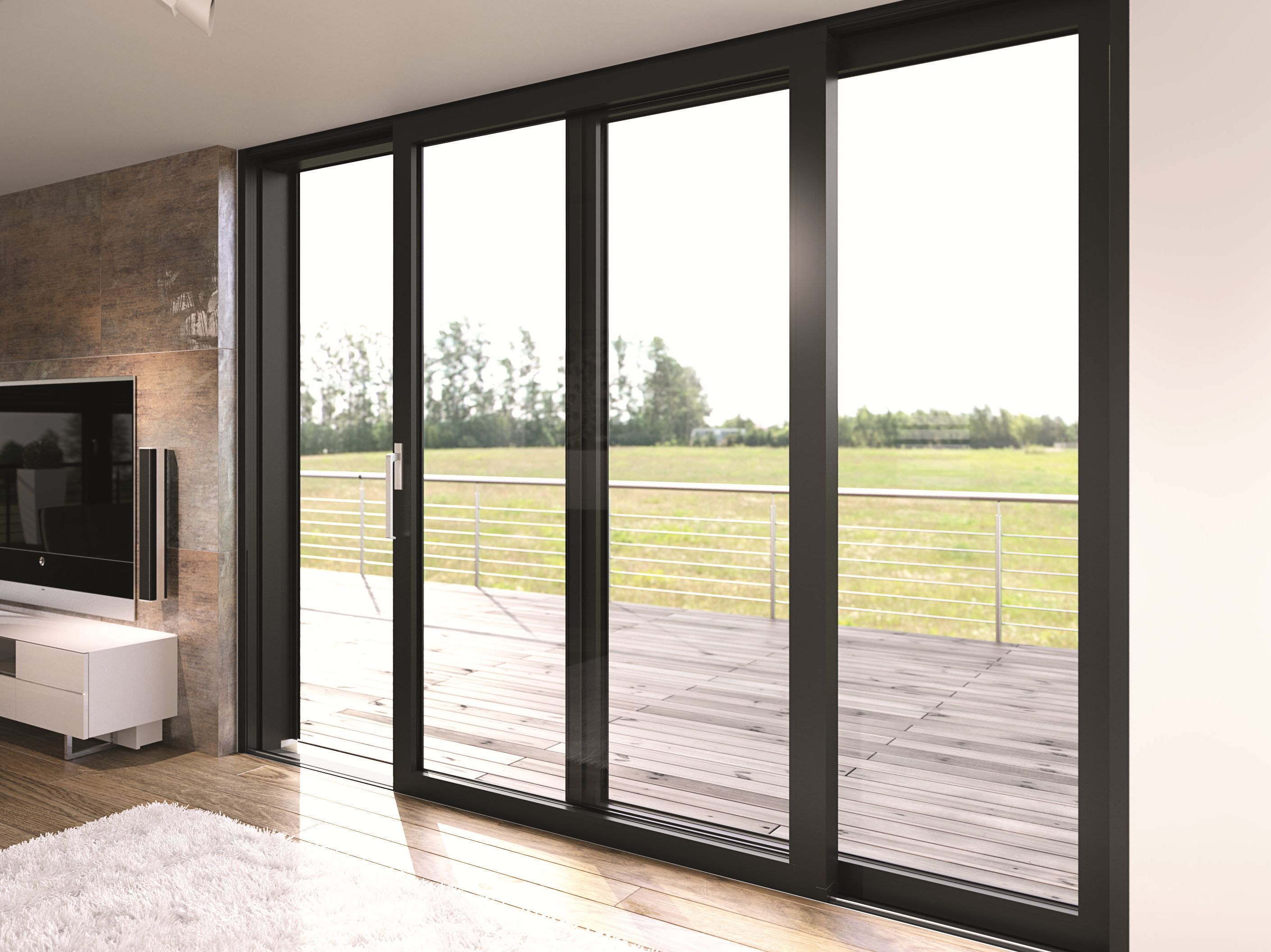 Aluminium patio door s 77 by heroal johann henkenjohann for Aluminium patio doors