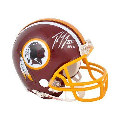 Amazon.com  RG3 Robert Griffin III Signed Autographed Redskins NFL Mini  Football Helmet Autograph - Photo Signing 036f6ab60