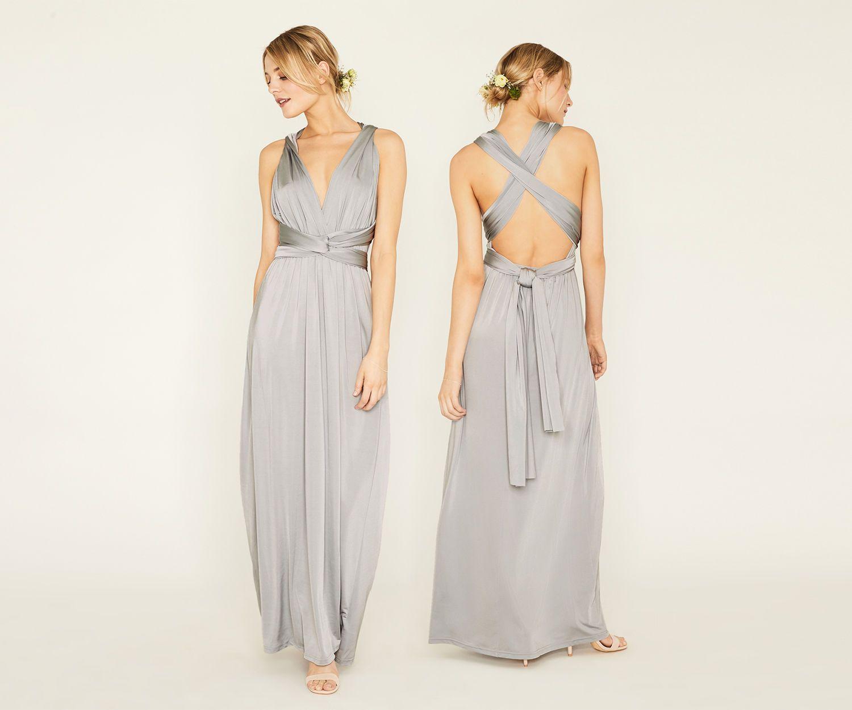 2a94e090dcdf Oasis, ANNIE MULTIWAY MAXI DRESS Pale Grey | Bridesmaids, belts ...