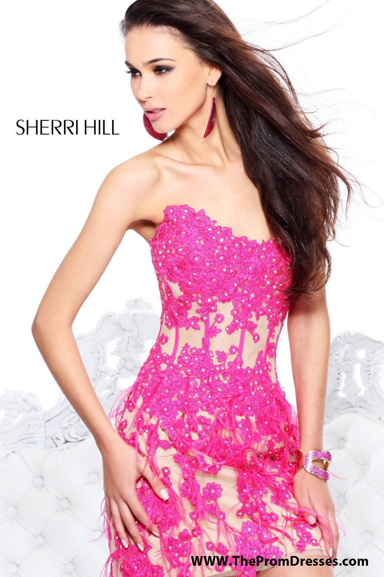 Beautiful lace   Sherri Hill 21143   Vestidos cortos   Pinterest ...